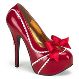 Rot Lack 14,5 cm TEEZE-14 Damenschuhe mit hohem Absatz