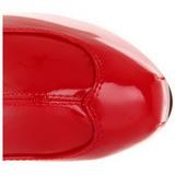 Rot Lack 15 cm Burlesque TEEZE-3000 Plateau Overknee Stiefel