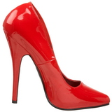 Rot Lack 15 cm DOMINA-420 hohe stiletto pumps spitz