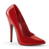 Rot Lack 15 cm DOMINA-420 sehr hohe stilettos pumps spitz
