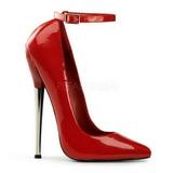 Rot Lack 16 cm DAGGER-12 Fetish Damen Pumps Schuhe