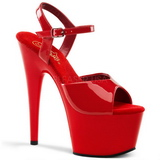 Rot Lack 18 cm ADORE-709 Plateau High Heels