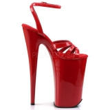 Rot Lack 25,5 cm Pleaser BEYOND-012 Plateau High Heels