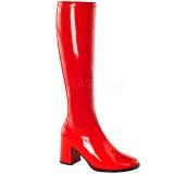 Rot Lack 8,5 cm Funtasma GOGO-300 Damen Stiefel