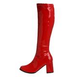 Rot Lack 8,5 cm GOGO-300 High Heels Damenstiefel für Männer