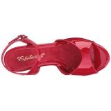 Rot Lack 8 cm BELLE-309 High Heel Sandaletten Damen