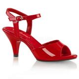 Rot Lack 8 cm BELLE-309 High Heels Damenschuhe für Herren