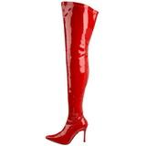 Rot Lack 9,5 cm LUST-3000 overknee high heels stiefel