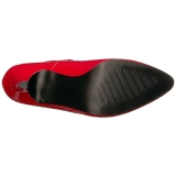Rot Lackleder 10 cm DREAM-432 grosse grössen pumps schuhe