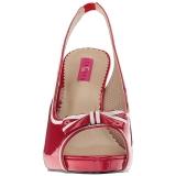 Rot Lackleder 11,5 cm PINUP-10 grosse grössen sandaletten damen