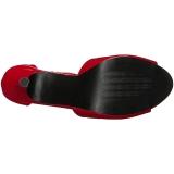 Rot Lackleder 12,5 cm EVE-02 grosse grössen sandaletten damen