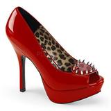 Rot Lackleder 13,5 cm PIXIE-17 Gothic Pumps Schuhe