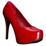 Rot Lackleder 14,5 cm Burlesque TEEZE-06W herren pumps für breite füsse