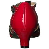 Rot Lackleder 5 cm FAB-428 grosse grössen pumps schuhe