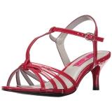 Rot Lackleder 6 cm KITTEN-06 grosse grössen sandaletten damen