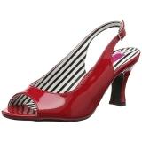 Rot Lackleder 7,5 cm JENNA-02 grosse grössen sandaletten damen