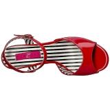Rot Lackleder 7,5 cm JENNA-09 grosse grössen sandaletten damen