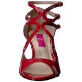 Rot Lackleder 7,5 cm KIMBERLY-04 grosse grössen sandaletten damen