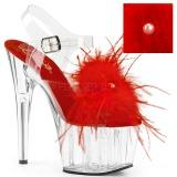 Rot Marabou Federn 18 cm ADORE-708MF pole dance high heels