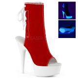 Rot Neon 15 cm DELIGHT-1018SK Leinenstoff high heels chucks