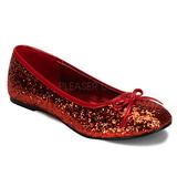 Rot STAR-16G glitter flache ballerinas damen schuhe