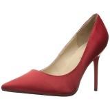 Rot Satin 10 cm CLASSIQUE-20 Damen Pumps Stiletto Absatz
