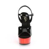 Rot chrome plateau 15 cm DELIGHT-609 pleaser high heels