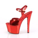 Rot chrome plateau 18 cm SKY-309TTG pleaser high heels