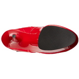 Rot lackstiefel 15,5 cm DELIGHT-2023 plateau schnürstiefel high heels
