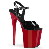 Rot plateau 20 cm FLAMINGO-809 pleaser high heels