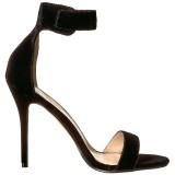 Samt 13 cm Pleaser AMUSE-10 Sandaletten mit high heels