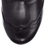 Schwarz 10,5 cm TESLA-102 damen stiefeletten mit schnürsenkel