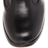 Schwarz 10 cm CRYPTO-106 plateau damenstiefel mit schnalle