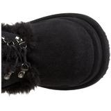 Schwarz 11,5 cm BEAR-202 lolita stiefel gothic plateau stiefel