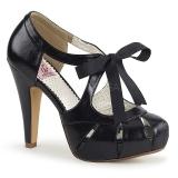 Schwarz 11,5 cm BETTIE-19 Damenschuhe mit hohem Absatz
