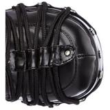 Schwarz 11,5 cm CHARADE-206 lolita stiefel gothic plateau stiefel