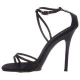 Schwarz 11,5 cm GALA-41 Stiletto Sandaletten mit hohen Absätzen
