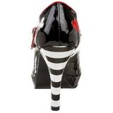 Schwarz 11 cm CONTESSA-57 Damenschuhe mit hohem Absatz