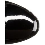 Schwarz 11 cm EXOTICA-2000 retro plateaustiefel blockabsatz lackstiefel