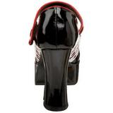 Schwarz 11 cm QUEEN-55 Damenschuhe mit hohem Absatz