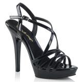 Schwarz 13 cm Fabulicious LIP-113 Sandaletten mit high heels