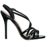 Schwarz 13 cm Pleaser AMUSE-13 Sandaletten mit high heels