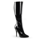 Schwarz 13 cm SEDUCE-2000 stiletto lackstiefel high heels stiefel