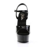Schwarz 15 cm DELIGHT-609 pleaser high heels mit plateau