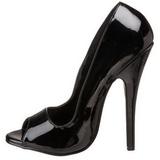 Schwarz 15 cm DOMINA-212 Damenschuhe mit hohem Absatz