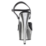 Schwarz 15 cm Pleaser KISS-209 Chrome Plateau High Heels