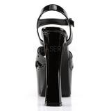Schwarz 16,5 cm CANDY-40 Damenschuhe mit hohem Absatz