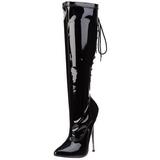 Schwarz 16 cm DAGGER-2064 Damenstiefel mit hohem Absatz