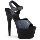 Schwarz 18 cm ADORE-708N-MG Hologramm plateau high heels