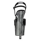 Schwarz 18 cm ADORE-709 Chrome Plateau High Heel